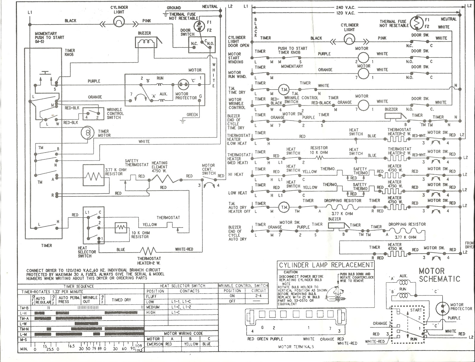 kenmore dryer power cord wiring diagram Collection-Kenmore Series Electric Dryer Wiring Diagram Schematic 2-a