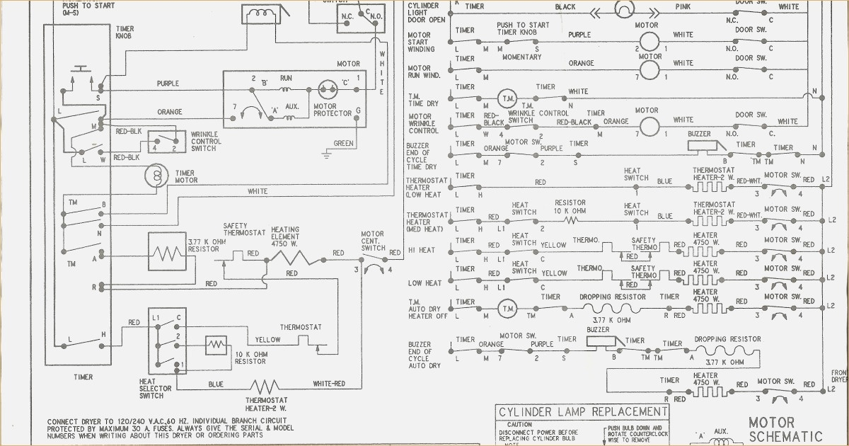 kenmore dryer wiring diagram Download-Wiring Diagram For Kenmore Dryer Model 110 within Kenmore Electric Dryer Wiring Diagram 6-k
