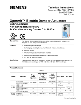 keystone epi2 electric actuator wiring diagram Download-OpenAir GDE GLB Series Modulating Control Damper 16-m