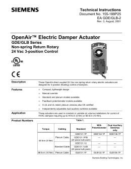 keystone epi2 electric actuator wiring diagram Collection-OpenAir™ Electric Damper Actuator GDE GLB Series Non 5-l