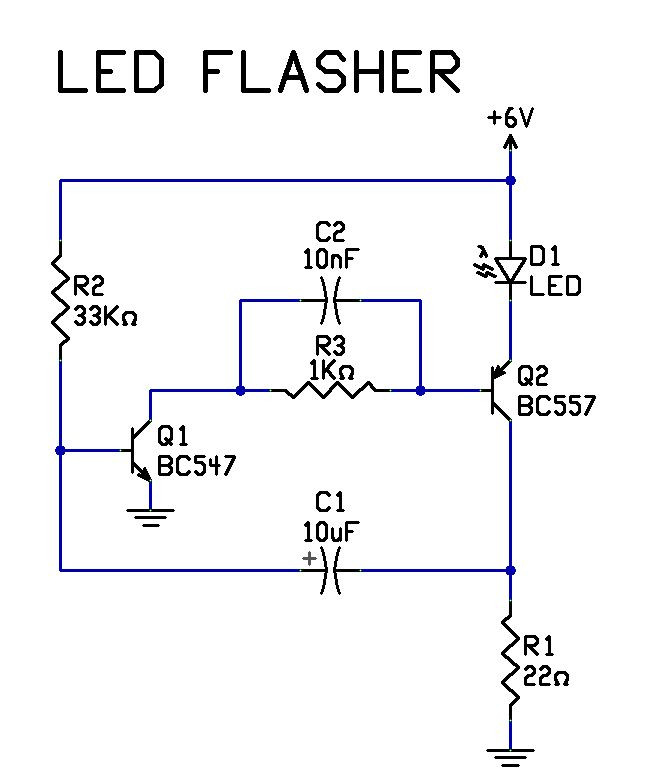 led flasher wiring diagram sample