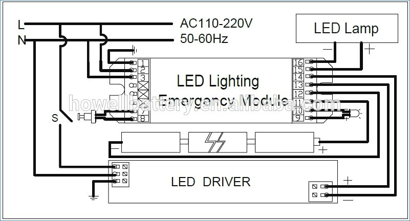 led tube light wiring diagram sample