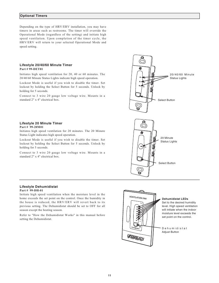 lifebreath hrv wiring diagram Collection-10 11 20-b