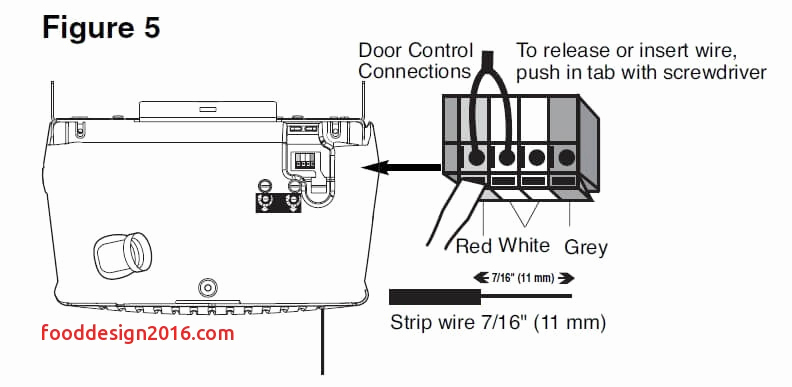 liftmaster garage door wiring diagram sample