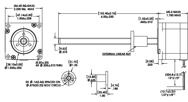 linear actuator wiring diagram Download-Size 23 Series External Linear Actuator Dimensional Drawing 4-f