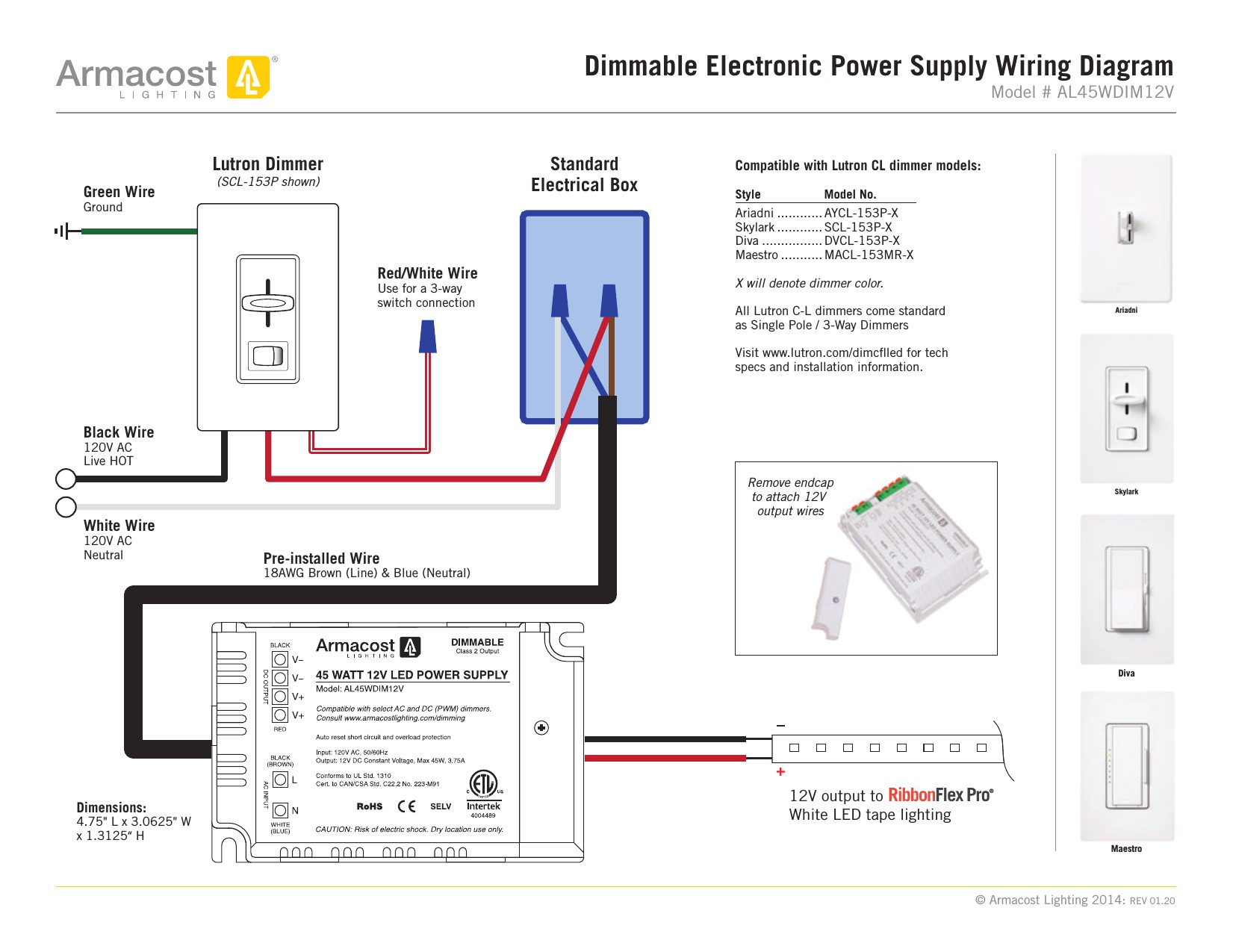 Lutron Maestro Led Dimmer Wiring Diagram Sample Collection Low Voltage Switch 3 Way New Download