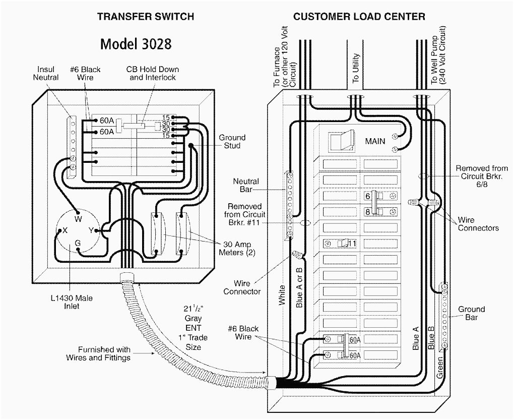 manual transfer switch wiring diagram Collection-Manual Transfer Switch Wiring Diagram 1-k