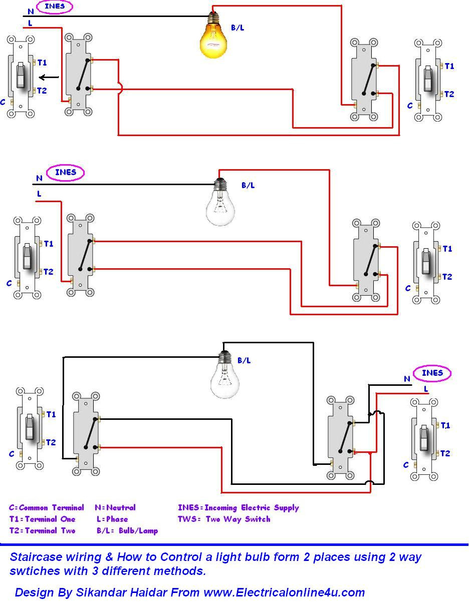 mobile home light switch wiring diagram Download-Wiring Diagrams 2 Way Light Switch Lighting Diagram Inside Two Unbelievable 17-f