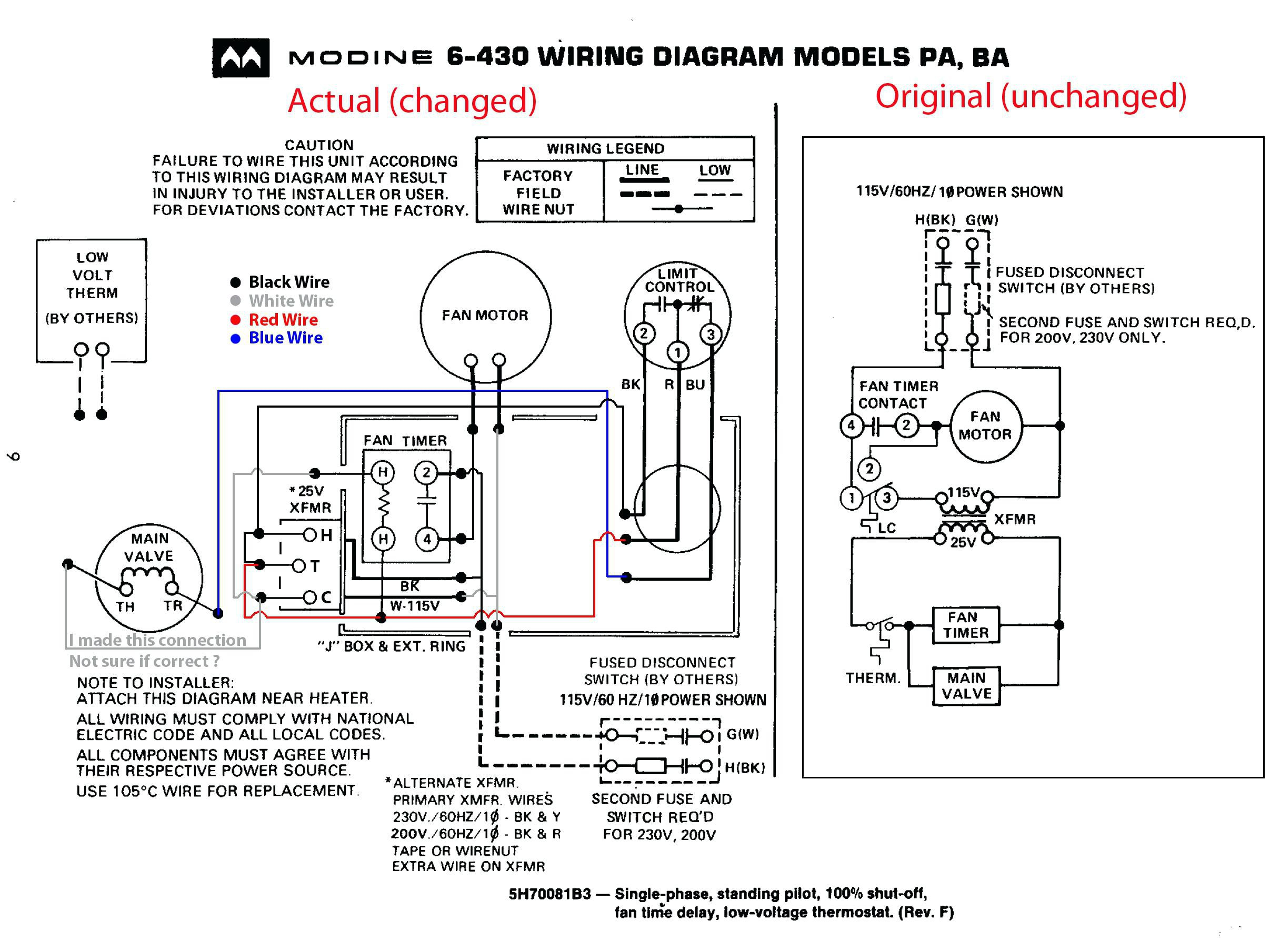 Modine Pa75ab Wiring Diagram Sample Wiring Collection