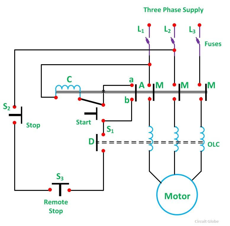 motor starter wiring diagram start stop Collection-Direct Line Starter 9-b