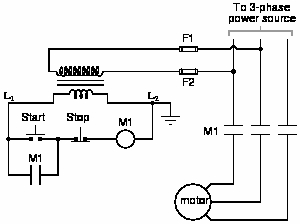 """motor starter wiring diagram start stop Download-Explain the operation of this circuit from the time the """"Start"""" switch is actuated to the time the """"Stop"""" switch is actuated The normally open M1 contact 7-g"""