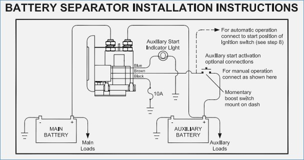 multi battery isolator wiring diagram Download-Video Dual Battery setup with Separator Page 4 Amazing Miopro Battery Isolator Wiring diagram 6-r
