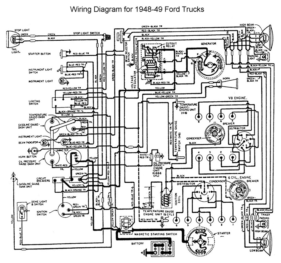 nissan ud wiring diagram Collection-Wiring for 1948 to 49 Ford Trucks 9-n