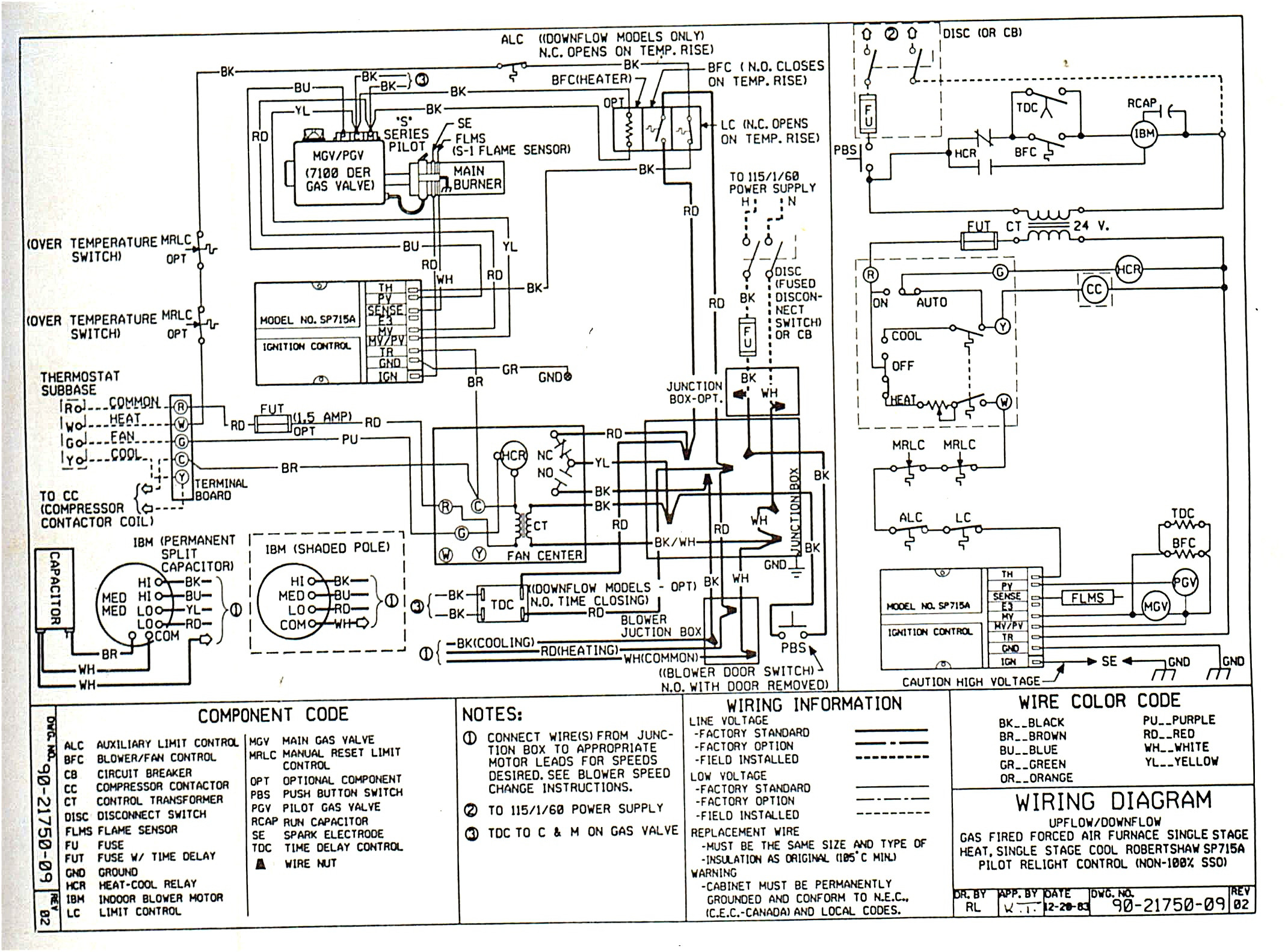nordyne thermostat wiring diagram gallery