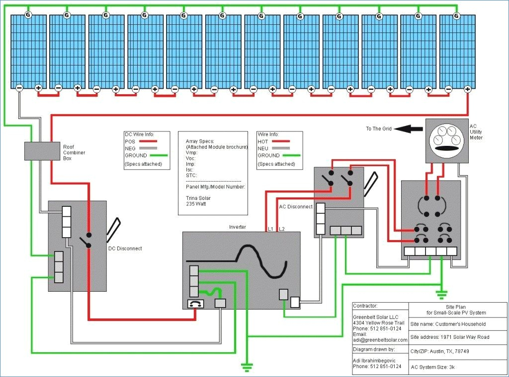 on grid solar system wiring diagram Collection-Diy solar Panel System Wiring Diagram New Wiring Diagram for This 6-s