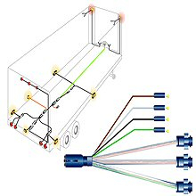 phillips 7 way trailer plug wiring diagram Download-SEMI Harness Systems & Bulk Wire 6-t