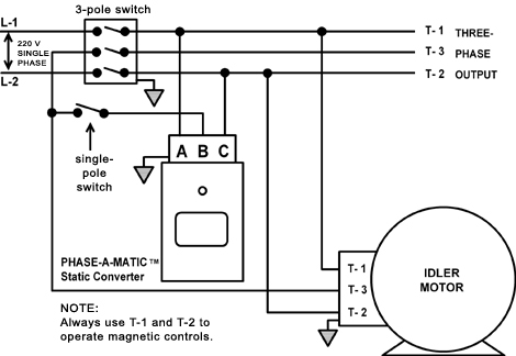 phoenix phase converter wiring diagram Collection-Static Converter and idler motor with isolation switch 14-t