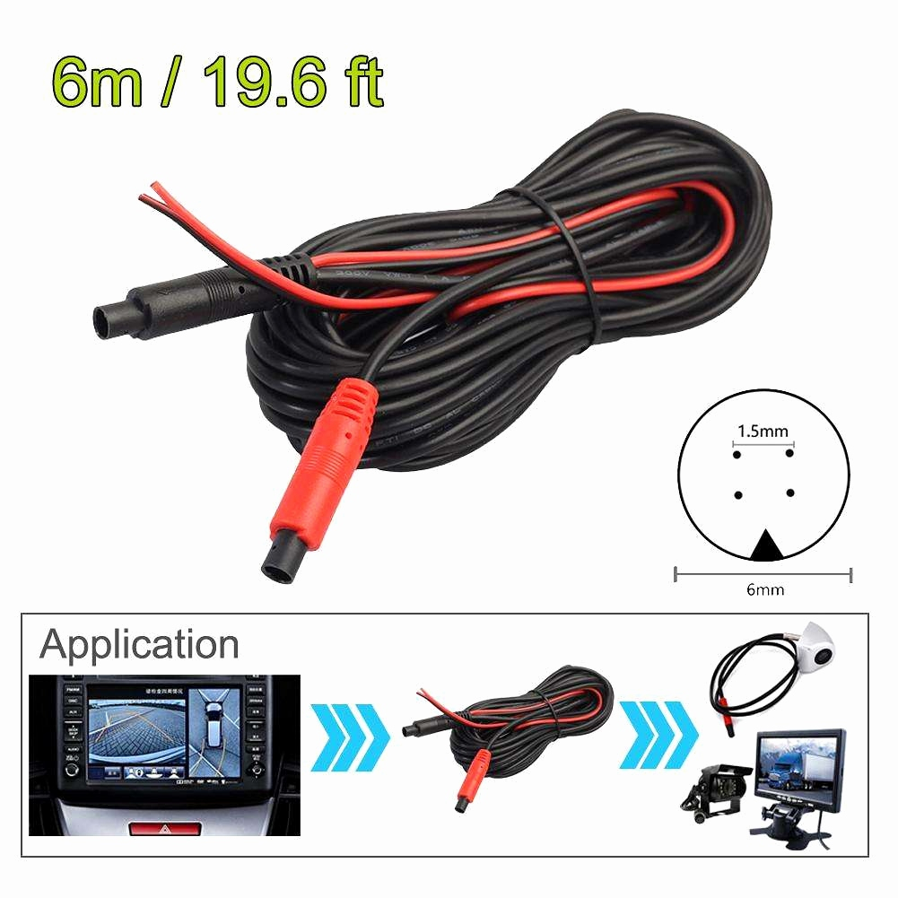 pillow tft lcd color monitor wiring diagram Download-tft lcd color monitor wiring diagram inspirational 6m 4pin car reverse rear view parking video extension 2-h