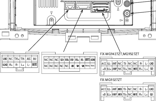 pioneer car stereo wiring diagram free Download-Lexus P3930 Pioneer FX MG9437ZT car stereo wiring diagram connector pinout 11-i