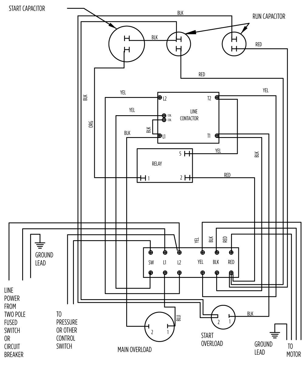 pump control panel wiring diagram schematic sample