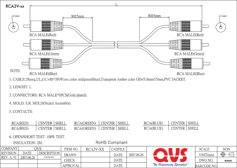 rca to rj45 wiring diagram Download-It has molded Red Green & Blue color coded with gold plated connector It is RoHS pliant Connectors 3 RCA Male to Male 16-s