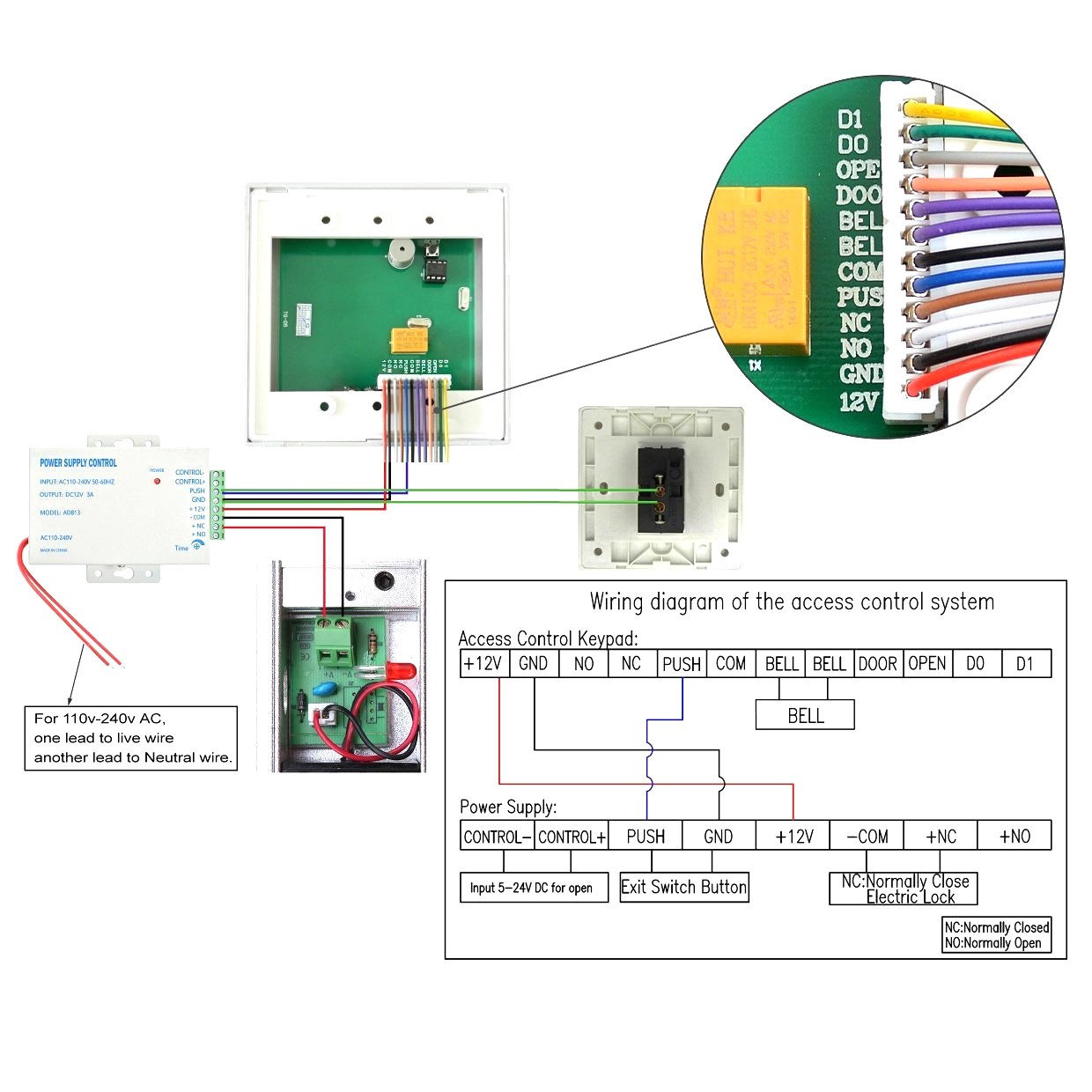 rfid access control wiring diagram Download-Access Control Door Wiring Diagram 14-j