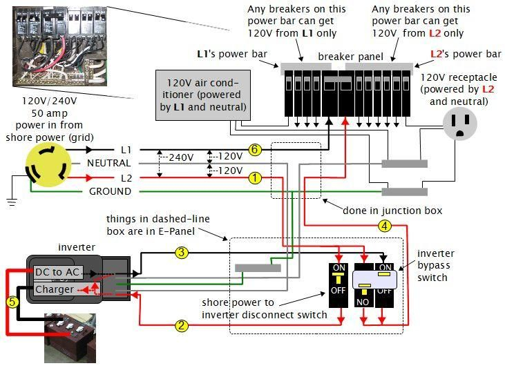rv solar panel installation wiring diagram Download-rv dc volt circuit breaker wiring diagram 2-h