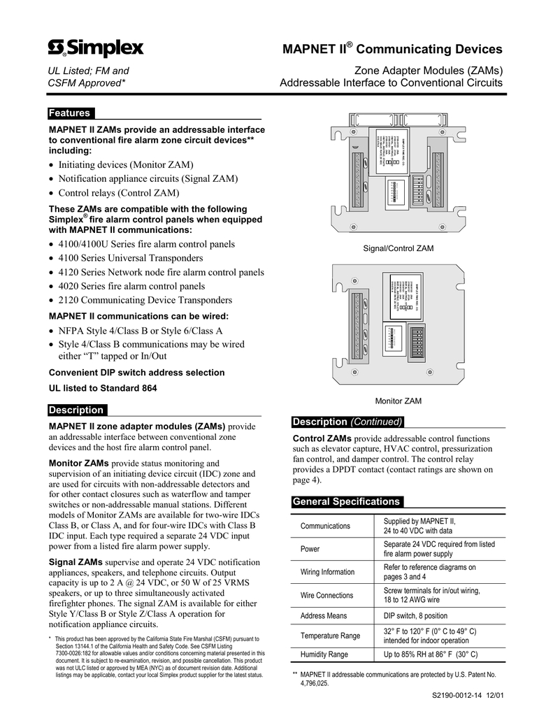simplex 4090 9001 wiring diagram Download-Zone Adapter Modules Simplex Wiring Diagram Pdf Diagram Full Size 13-j