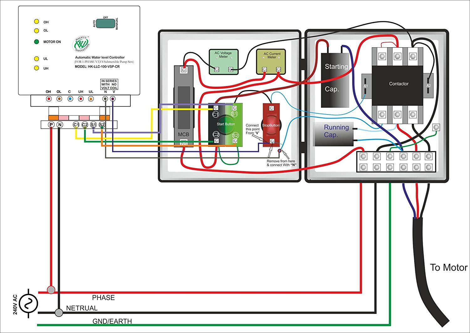 single phase submersible pump starter wiring diagram Download-Single Phase Submersible Pump Starter Wiring Diagram Water 19-s