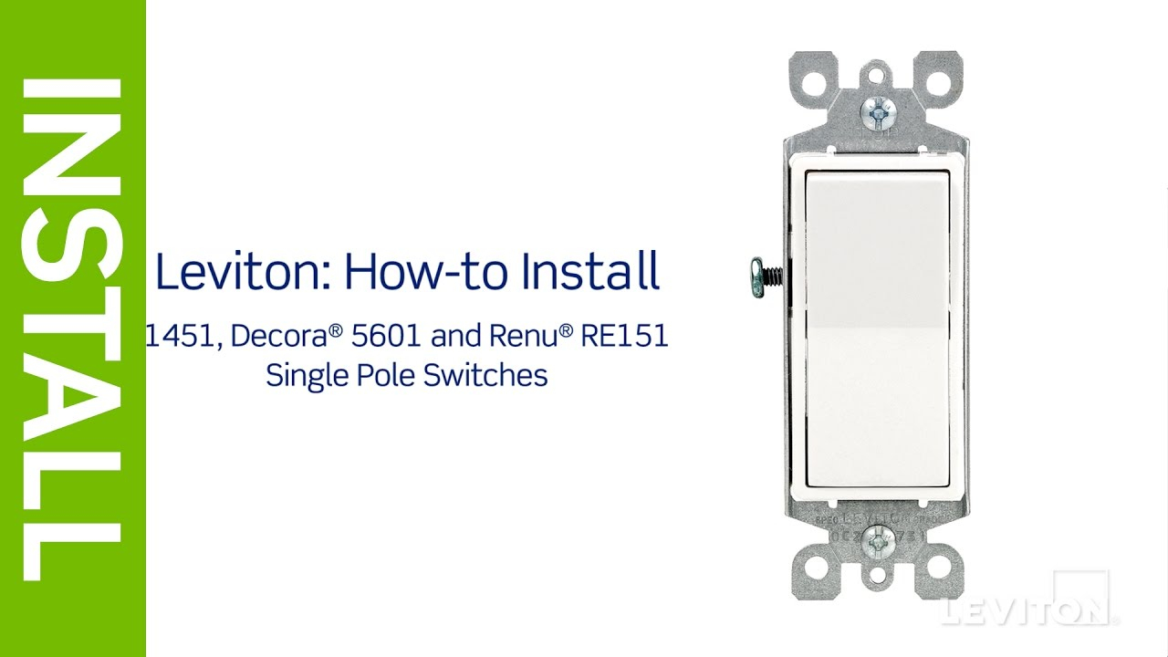single pole dimmer switch wiring diagram Download-Leviton Presents How to Install a Single Pole Switch 11-b