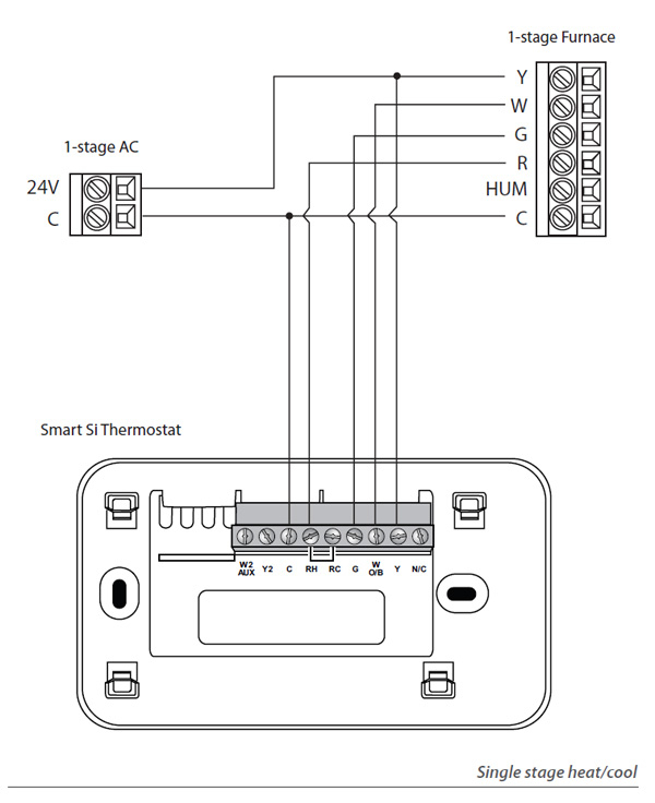 single stage thermostat wiring diagram Download-How to Install 4 Wire to 5 Wire thermostat Lovely Ecobee3 Humidifier Wiring Diagram Wiring solutions 11-k