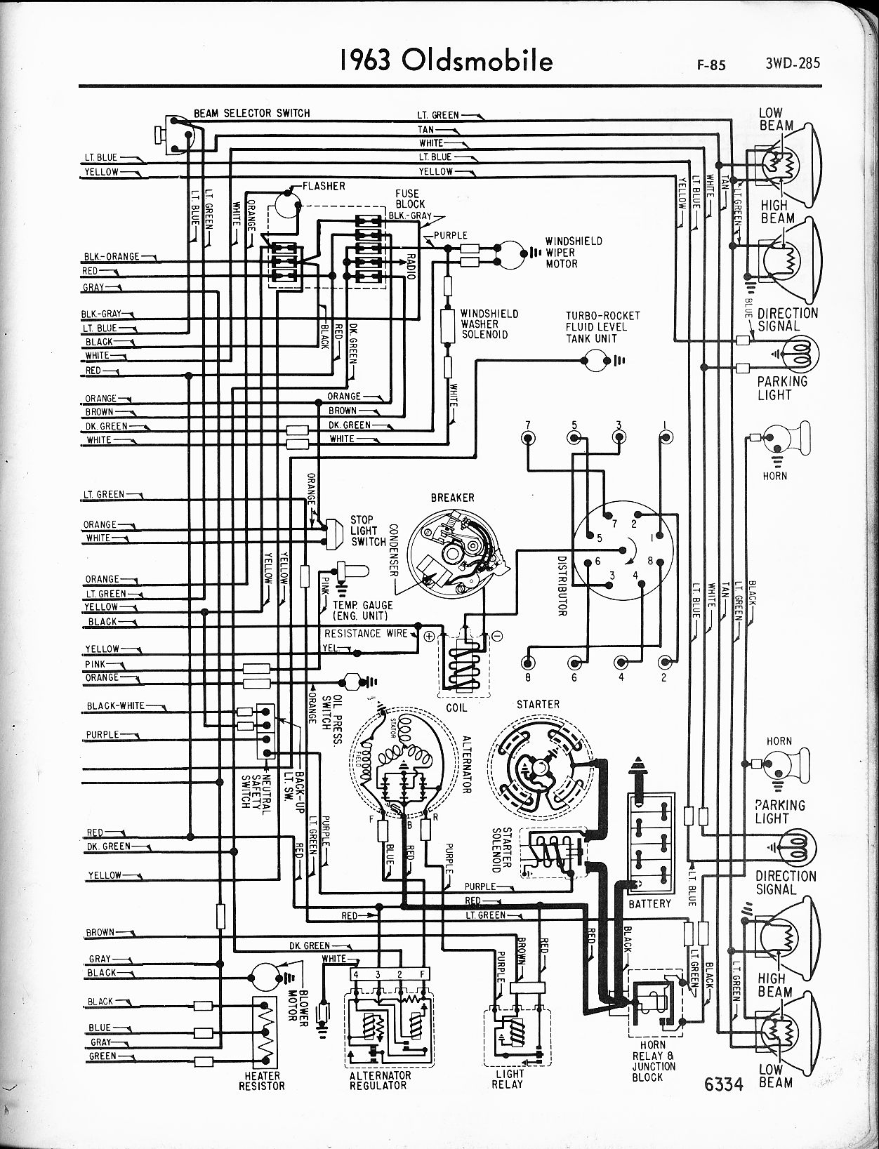 sole f63 wiring diagram Download-oldsmobile wiring diagrams the old car manual project rh oldcarmanualproject 16-i
