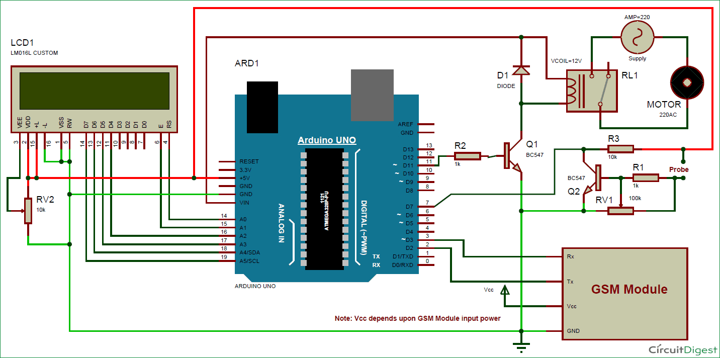 sprinkler system wiring diagram Download-Fire Sprinkler Parts Diagram Beautiful Arduino Based Automatic Plant Irrigation System with Message Alert 19-k