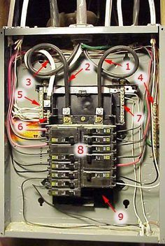 square d 100 amp panel wiring diagram Collection-Labeled image of Square D brand of electrical sub panel breaker panel 4-q