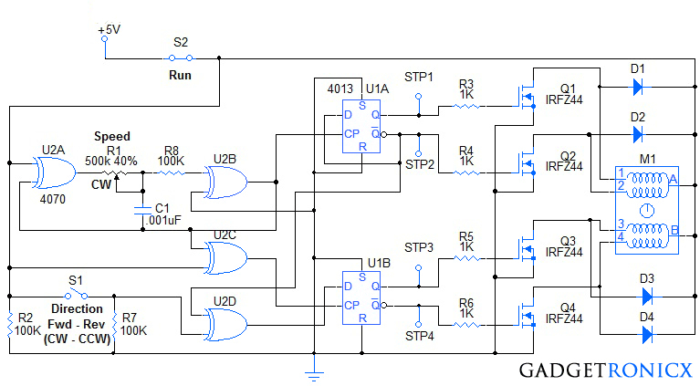 stepper motor wiring diagram Download-Stepper Motor Wiring Diagram Beautiful Stepper Motor Controller Circuit Diagram Using Ic S Ic 4070 An 2-l