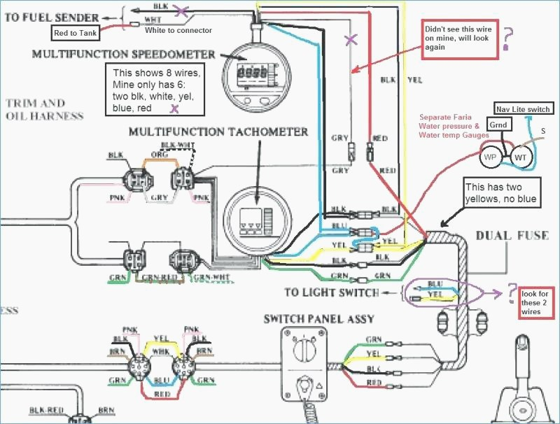 suzuki outboard tachometer wiring diagram Download-Yamaha Outboard Engine Parts Mercury Motor Wiring Diagram For The Mercury 150 Tach Wiring Diagram 12-d