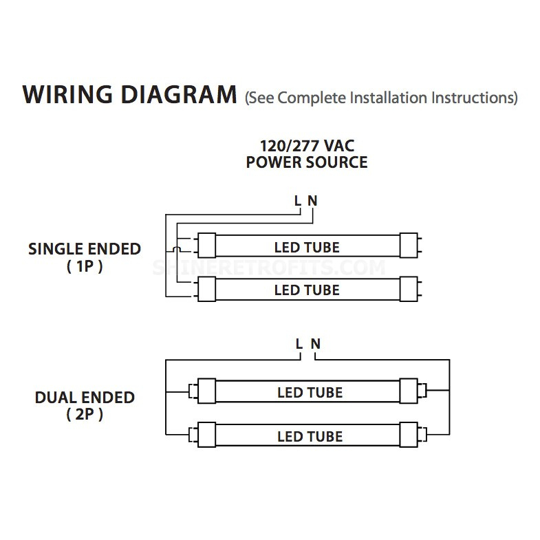 T8 Led Wiring Diagram Sample