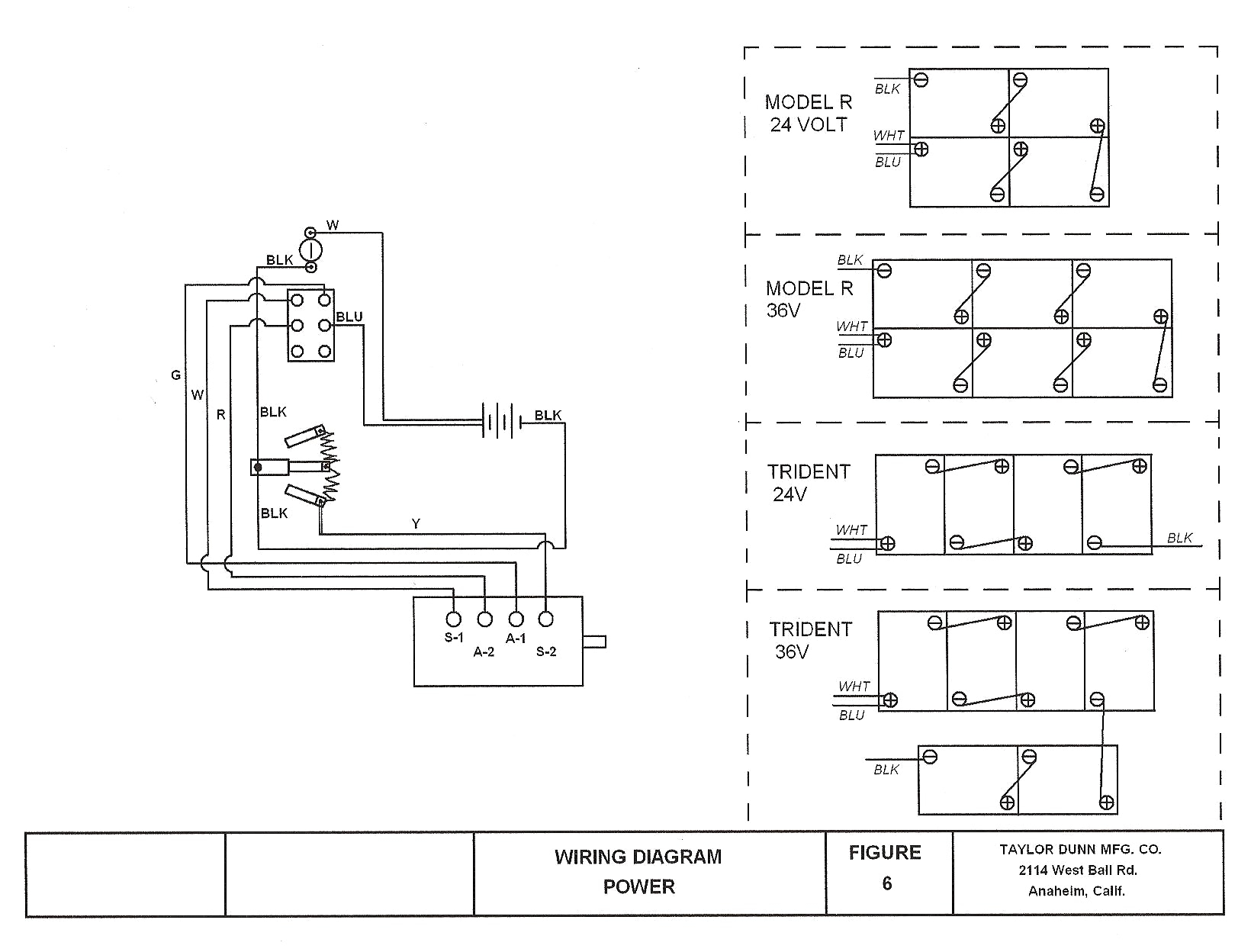 Taylor Dunn 36 Volt Wiring Diagram Gallery Wiring Collection