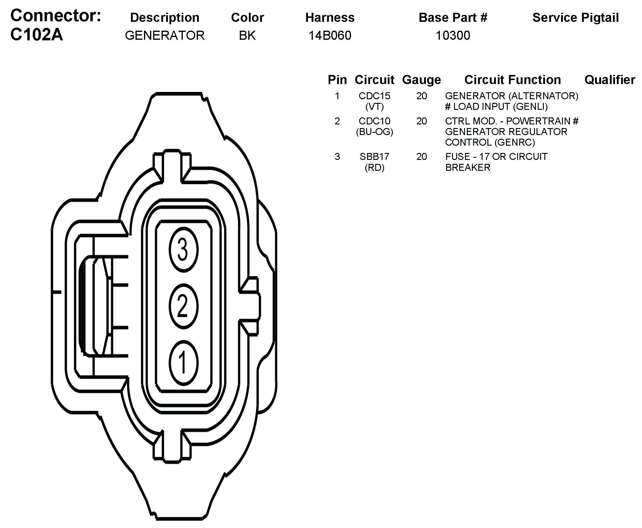 three wire alternator wiring diagram sample