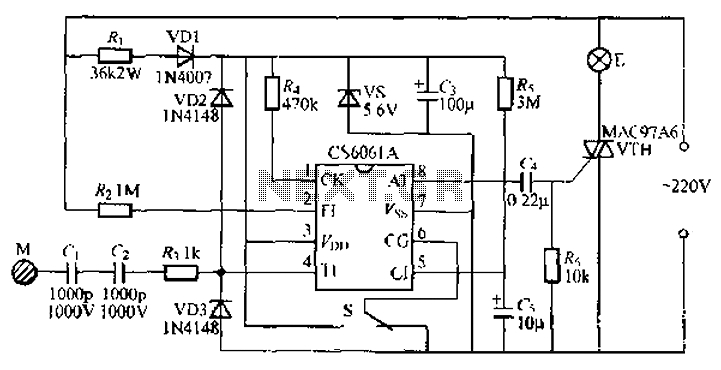 touch dimmer wiring diagram Download-Stepping CS6061A touch dimmer light circuit 7-s