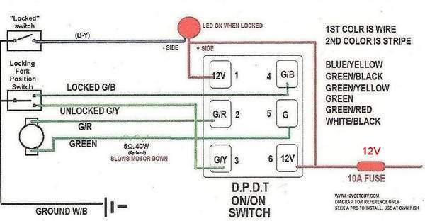 toyota e locker wiring diagram Download-ce i had it working I got a Carling DPDT ON OFF ON dual LED Contura V switch from OTRATTW Blue LED on bottom is always on red LED on top is 4-f