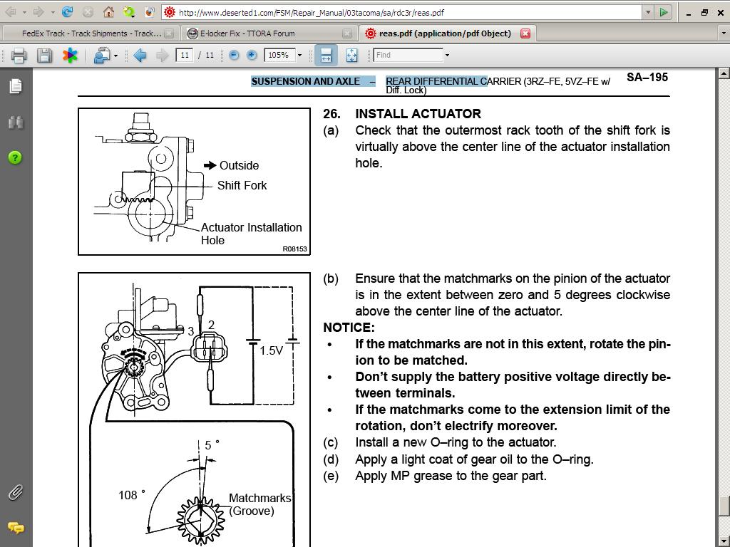 toyota e locker wiring diagram Download-E Locker 1 5 volt battery test 20-m