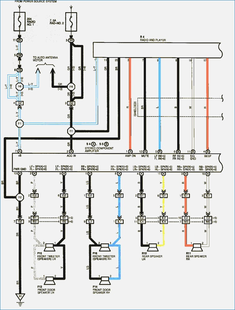 toyota tacoma stereo wiring diagram Download-Wiring Diagrams for totyota Ta a Viper Installation Awesome Stunning Ta A Radio Wiring Diagram Inspiration 7-s
