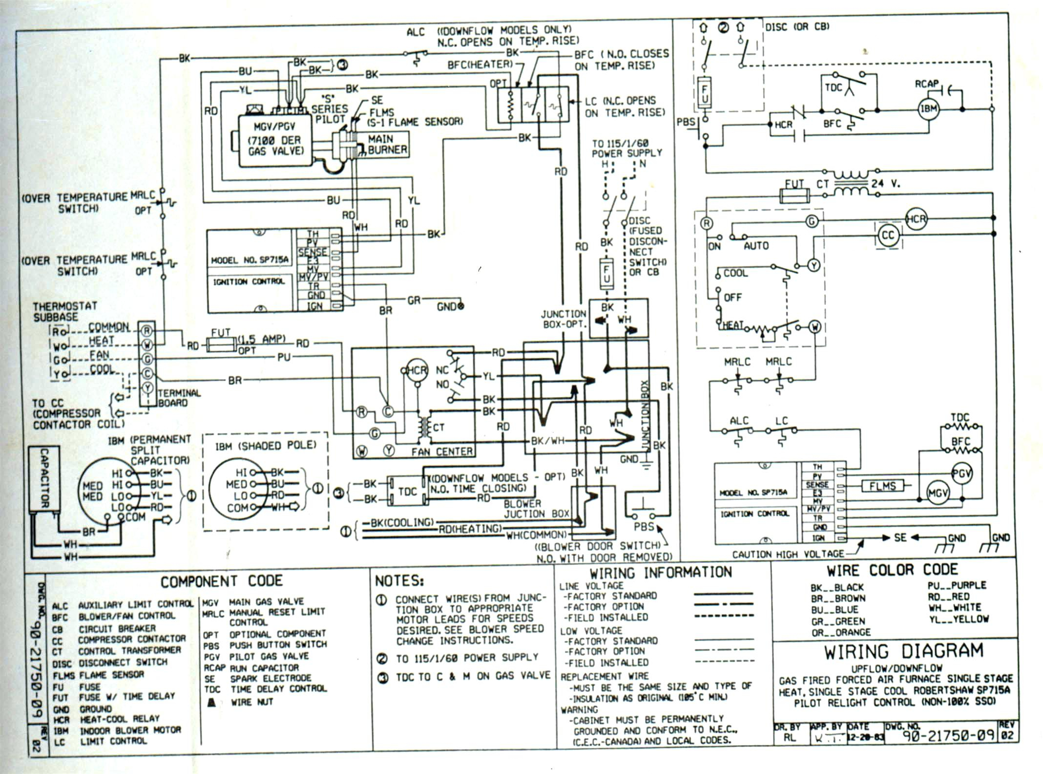 Wiring Diagram For Whirlpool Air Conditioner : Trane furnace wiring diagram sample collection