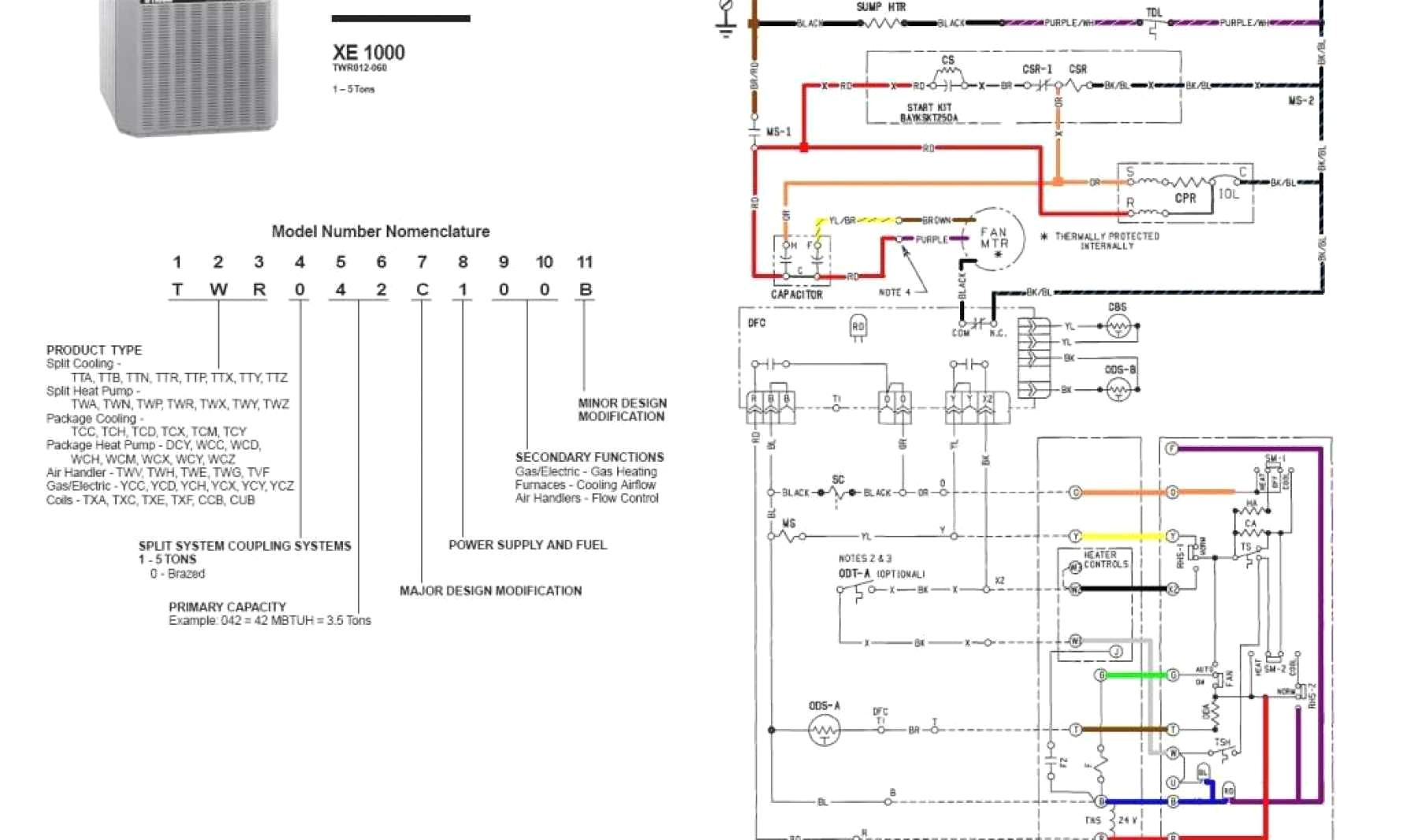 trane furnace wiring diagram Collection-Trane Air Conditioner Wiring Diagram Noticeable Furnace With 18-l