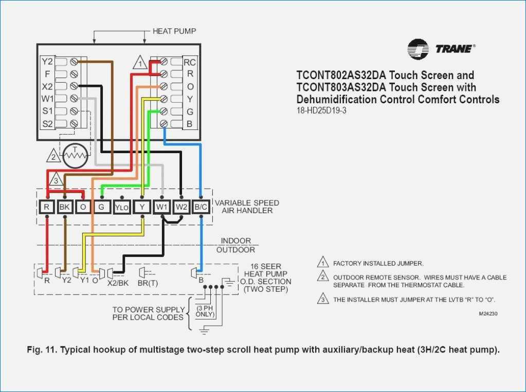 trane xv95 thermostat wiring diagram Collection-trane thermostat wiring diagram sample electrical wiring diagram air conditioner thermostat wiring diagram trane thermostat wiring 12-h