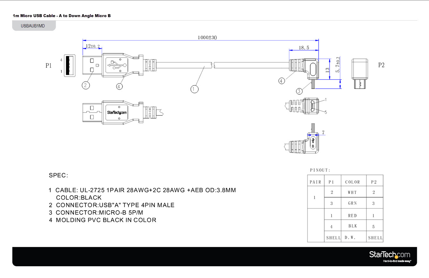 usb to rj45 cable wiring diagram Download-Usb to Cat5 Wiring Diagram New 1m Usb to Down Angle Micro Usb Cable Usb 2 14-t