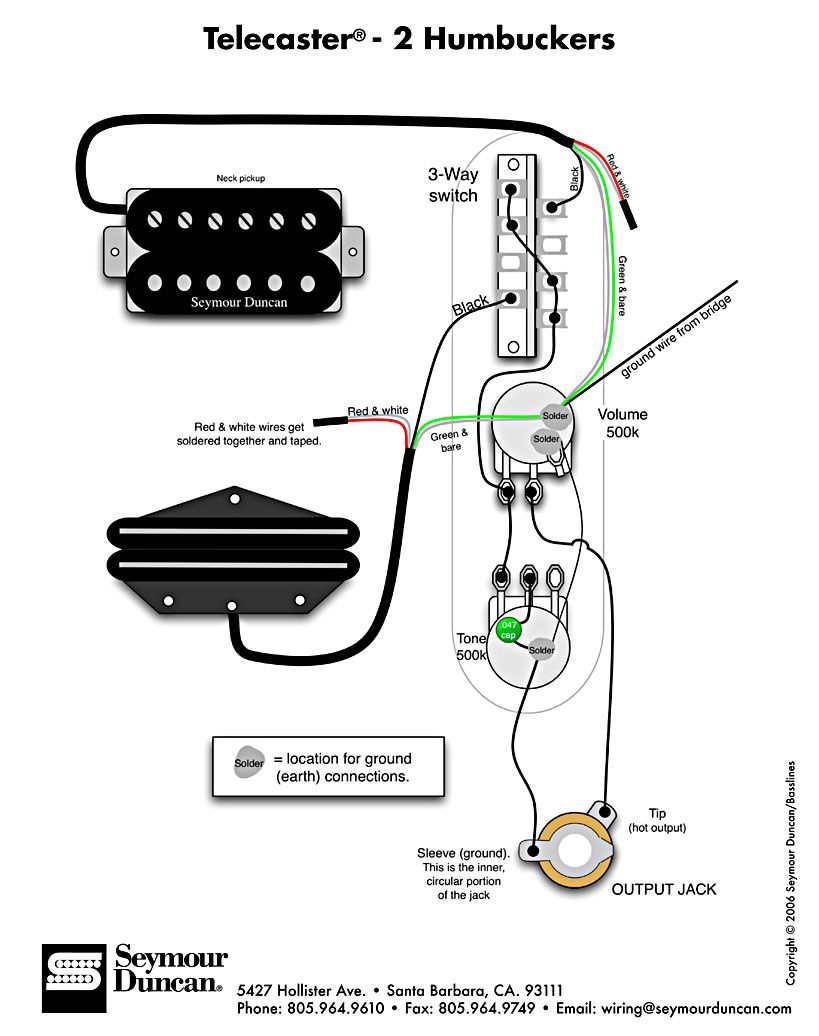 vintage telecaster wiring diagram Collection-Tele Wiring Diagram with 2 humbuckers 11-t