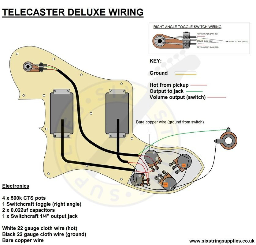 vintage telecaster wiring diagram Download-Telecaster 72 Deluxe Wiring Diagram 16-g