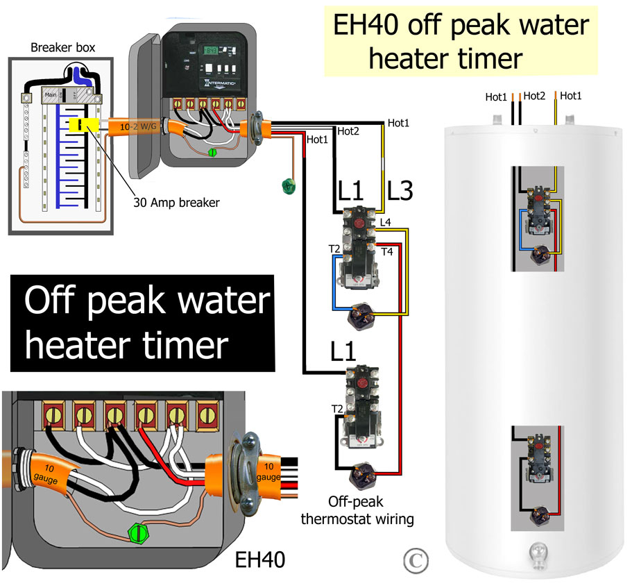 water heater timer wiring diagram Collection-Electric Water Heater Wiring Installation Unique How to Wire Water Heater thermostats 3-e